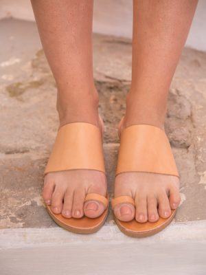 Halkidiki-women-leather-handmade-slides-sandals