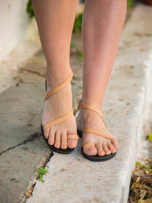 Bella Vraka Summer Leather Sandals for Women