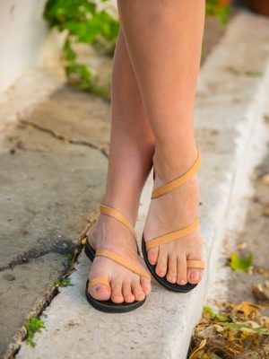 Bella Vraka Summer Leather Sandals for Women
