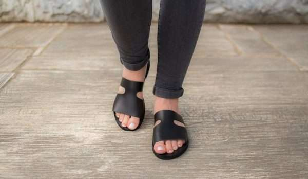 Lefkas-ballsai-women-black-slides-sandals-greece