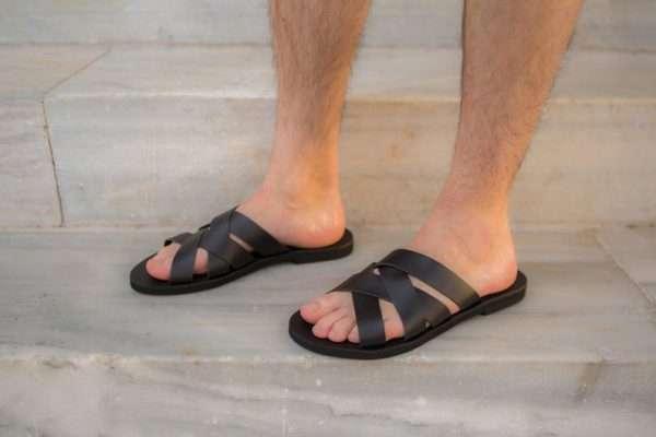 Aris ballsai sandals greece handmade