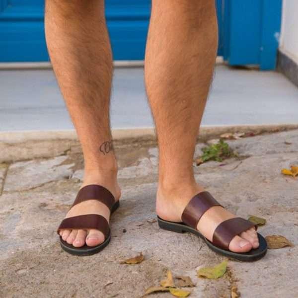 Platon-men-leather-handmade-sandals-slides-ballsai