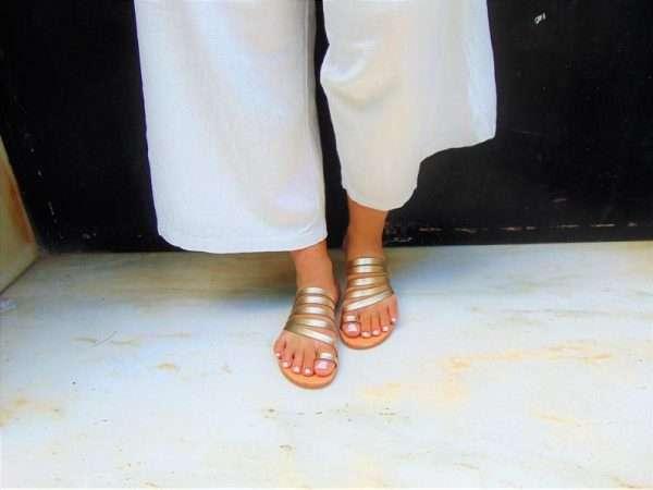Ballsai handmade sandals gold