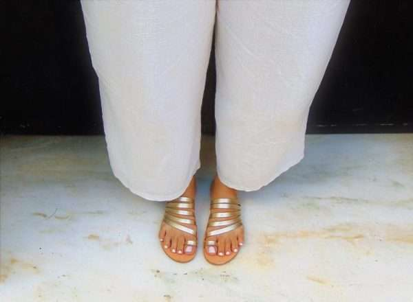 Ballsai handmade sandals gold greek