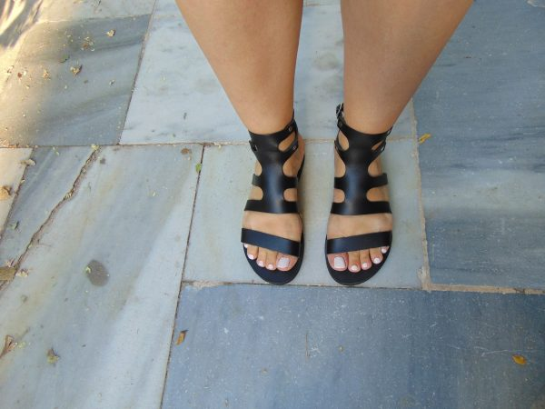 fedra-handmade-greek-women-leather-black-lace up-sandals-ballsai