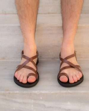 Dionisos-ballsai-handmade-leather-sandals-men-brown-greece