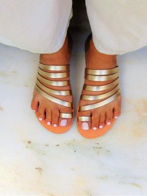 Antouan-Gold-Handmade-leather-women-sandals-ballsai