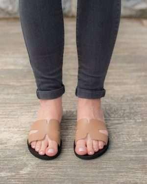 Thassos-greece-ancient-women-leather-sandals-slides-athens-ballsai