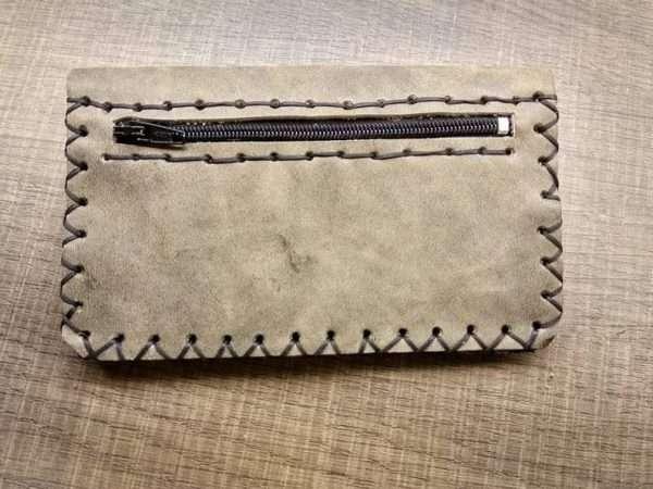 Leather wallet zipper ballsa greece athens leather handmade