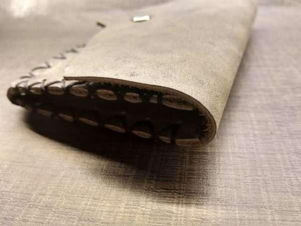 Leather wallet zipper ballsa greece athens leather handmade men women