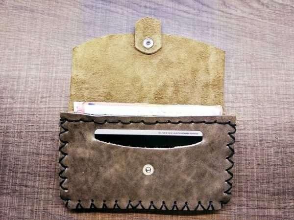 Leather wallet zipper ballsa greece athens leather handmade men women card