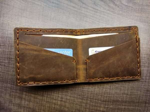 Thin Leather Wallet greece men handmade ballsai gift greece purse