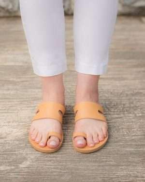 Cyclades-Sandals-Women-Leather-Slides-Handmade-Ballsai