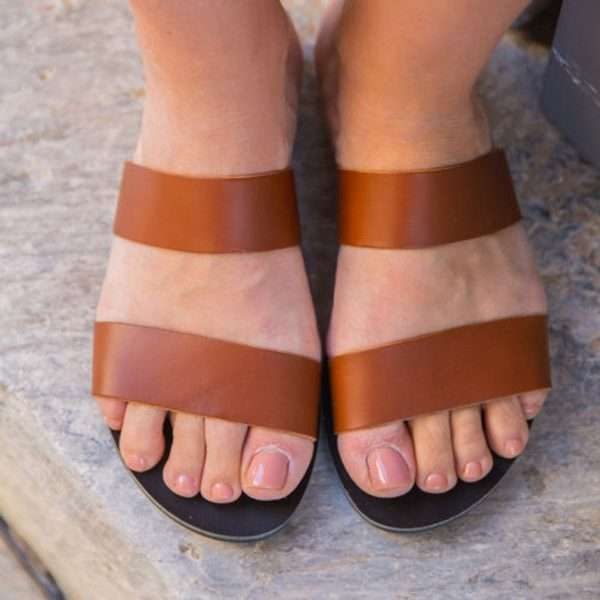 Skopelos-handmade-ancient-greek-sandals-women-leather-by-ballsai-brown