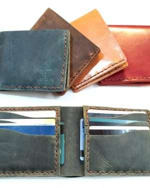 Leather Card Wallet, Handmade Leather Wallet, Leather Card Organizer