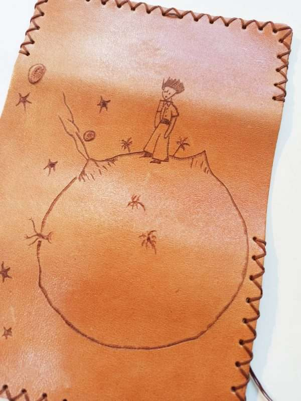 Little Prince, Leather Tobacco Pouch, Rolling Cigarettes Case, Handmade Tobacco Pouch, Pyrography Leather