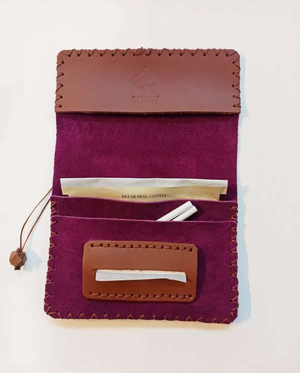 Leather Rolling Pouch, Handamade Leather Tobacco Pouch, Leather Tobacco Wallet