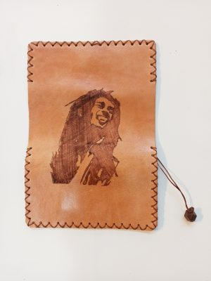Handmade Leather Tobacco Pouch Bob Marley, Leather Tobacco Case, Leather Rolling Pouch