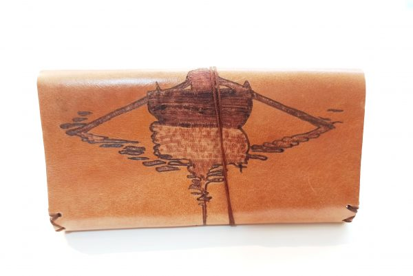 Handmade Leather Tobacco Pouch with pyrography, Leather Tobacco Pouch, Leather Tobacco Case
