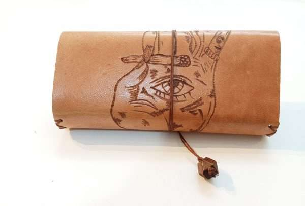 Pyrogrpahy Leather Tobacco Pouch, Handmade Leather Tobacco Case, Tobacco Pouch