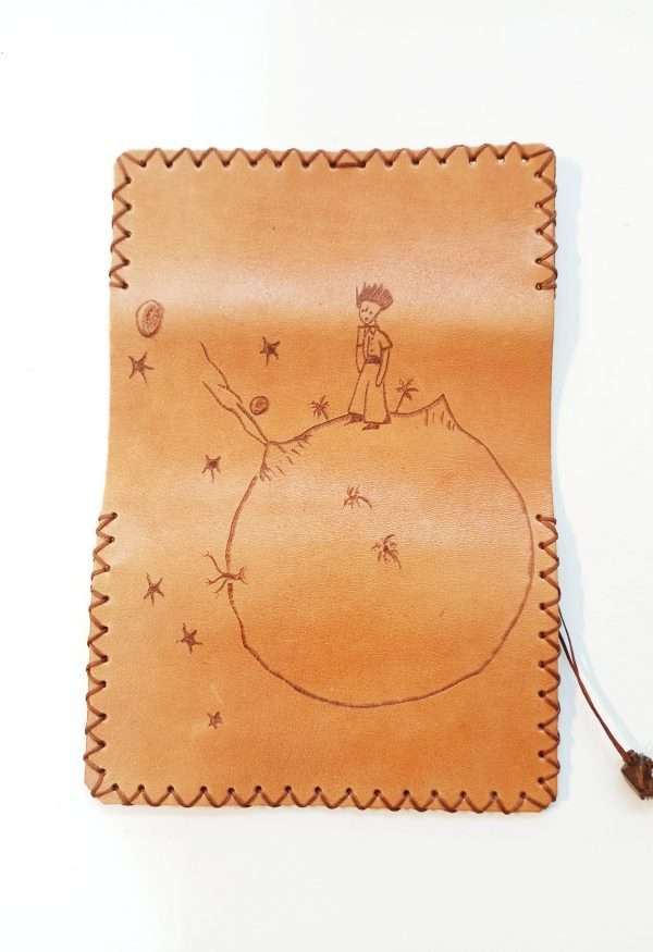 Leather Tobacco Pouch Little Prince, Leather Tobacco Pouch, Rolling Cigarettes Case, Handmade Tobacco Pouch, Pyrography Leather