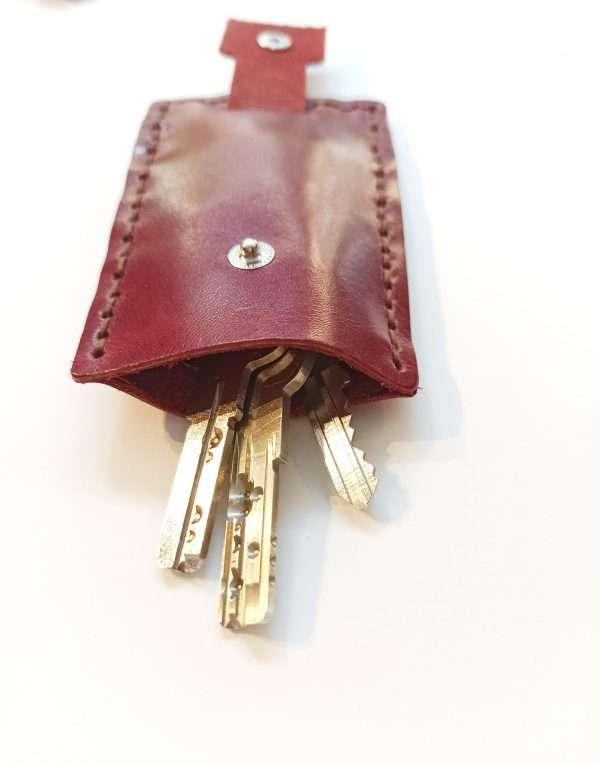 Leather Key Organizer, Leather Keychain, Handmade Leather Key Case