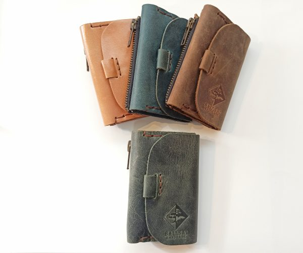 Leather Key Pouch, Handmade Leather Key Wallet, Leather Keychain