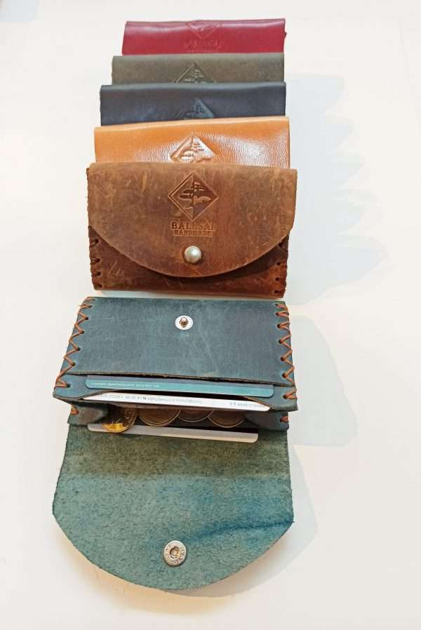Leather Wallet Card Holder, Handmade Leather Wallet, Leather Coin Wallet