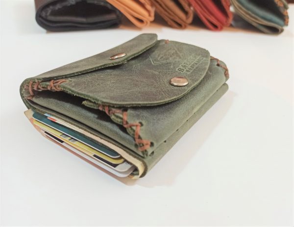 Leather Coin Wallet, Handmade Leather Wallet