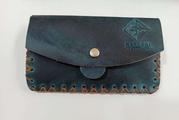 Leather Wallet with Zipper, Handmade Leather Wallet, Leather Money Wallet
