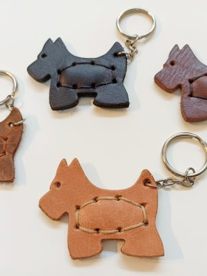 Leather Keyring Dog, Handmade Leather Key holder, Leather Key Organizer