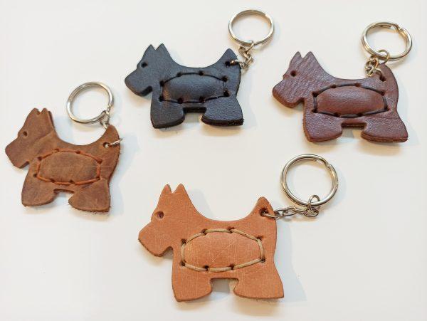 Leather Keyring Dog, Handmade Leather Key holder, Leather Key Organizer