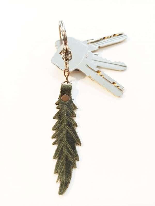 Leather Key holder, Handmade Leather Key ring, Leather Keychain