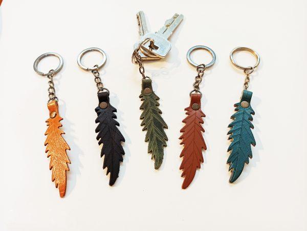 Leather Key Ring, Handmade Leather Key Holder, Leather Keychain