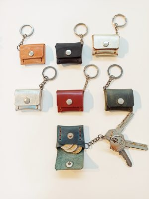 Handmade Leather Keyring, Leather Key holder, Leather key case