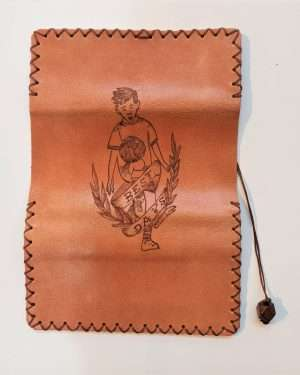 Leather Tobacco Rolling Pouch, Handmade Leather Tobacco Case