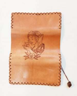Leather Tobacco Pouch Personalised, Handmade Tobacco Case, Leather Tobacco Wallet