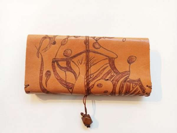 Custom Leather Tobacco Pouch, Leather Rolling Pouch, Leather Tobacco Wallet
